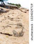 ruins of gabion   mattress... | Shutterstock . vector #1324029719