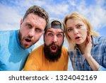 shocking news. amazed surprised ...   Shutterstock . vector #1324042169