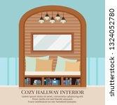 cozy simple home corridor...   Shutterstock .eps vector #1324052780