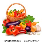 background with fresh...   Shutterstock . vector #132405914