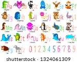 cute animal alphabet a z vector ... | Shutterstock .eps vector #1324061309