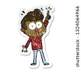distressed sticker of a cartoon ...   Shutterstock .eps vector #1324064966