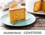 sweet carrot cake slice on...   Shutterstock . vector #1324070330