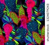 tropical birds seamless pattern.... | Shutterstock . vector #1324079243