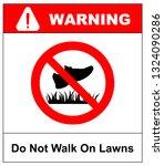 do not step on grass sign  do... | Shutterstock . vector #1324090286