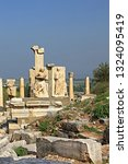 relief in ephesus. ancient... | Shutterstock . vector #1324095419