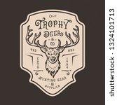 deer head logo.hand drawn...   Shutterstock .eps vector #1324101713