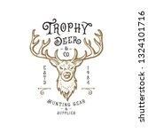 deer head logo.hand drawn...   Shutterstock .eps vector #1324101716