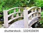 White Japanese Bridge In The...