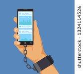 gadgets addiction concept  hand ...   Shutterstock .eps vector #1324114526