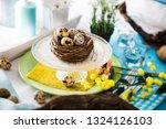 easter table setting. fresh...   Shutterstock . vector #1324126103