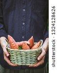 organic gardening. farmers...   Shutterstock . vector #1324128626