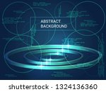 circles volume sparkle on... | Shutterstock .eps vector #1324136360