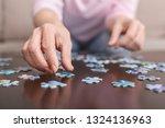 memory training. senior woman... | Shutterstock . vector #1324136963