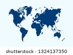 color world map vector | Shutterstock .eps vector #1324137350