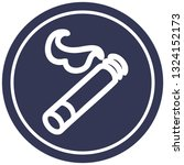 lit cigarette circular icon... | Shutterstock .eps vector #1324152173