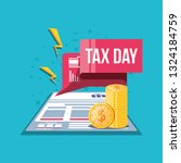 tax day with document and set... | Shutterstock .eps vector #1324184759