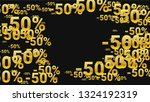 percent sings on dark... | Shutterstock .eps vector #1324192319
