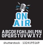on air. serif font. original... | Shutterstock .eps vector #1324195169