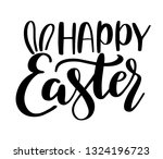 happy easter lettering with... | Shutterstock .eps vector #1324196723