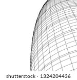 abstract architecture  dome 3d | Shutterstock .eps vector #1324204436