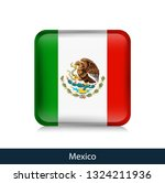 mexico   square glossy badge.... | Shutterstock .eps vector #1324211936