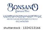 vector composite font bonsano.... | Shutterstock .eps vector #1324213166
