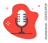microphone vector icon....