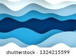 blue paper art cartoon abstract ...   Shutterstock . vector #1324215599