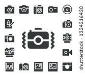photographic icon set. 17... | Shutterstock .eps vector #1324216430