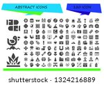 abstract icon set. 120 filled... | Shutterstock .eps vector #1324216889