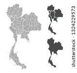 map of thailand | Shutterstock .eps vector #1324229573
