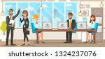 flat vector illustration team... | Shutterstock .eps vector #1324237076