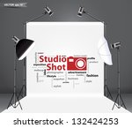 photography studio with a light ... | Shutterstock .eps vector #132424253