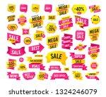 sales banner. super mega... | Shutterstock .eps vector #1324246079