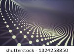 abstract polygonal space low... | Shutterstock . vector #1324258850