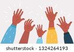 vector cartoon illustration of... | Shutterstock .eps vector #1324264193