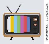 illustration of retro tv. pixel ... | Shutterstock .eps vector #1324266626