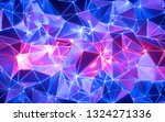 3d rendering  blue pink neon...   Shutterstock . vector #1324271336