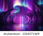 3d render  abstract pink blue... | Shutterstock . vector #1324271369