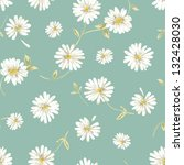 Pretty Daisy Seamless Background
