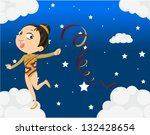 illustration of a young girl... | Shutterstock .eps vector #132428654