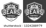 vintage monochrome football... | Shutterstock .eps vector #1324288979