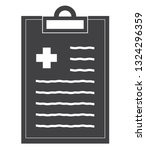 medical record icon on white... | Shutterstock .eps vector #1324296359