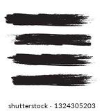 brush stroke set isolated on... | Shutterstock .eps vector #1324305203