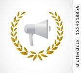 golden laurel with a... | Shutterstock .eps vector #1324318856