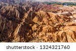 top view of rainbow mountains... | Shutterstock . vector #1324321760