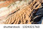 top view of rainbow mountains... | Shutterstock . vector #1324321763