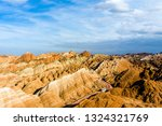 top view of rainbow mountains... | Shutterstock . vector #1324321769
