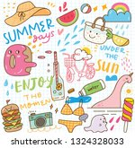set of summer doodle collage | Shutterstock .eps vector #1324328033